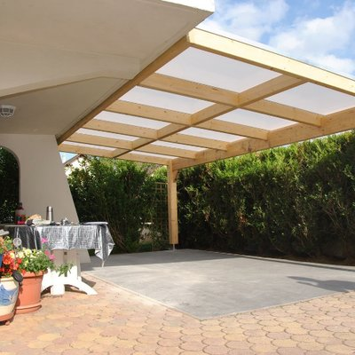 KIT PERGOLA POLYCARBONATE 16mm sans déport